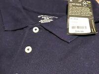 Mens St Johns Bay Navy Sport 2XX  Polo short sleeve 100% Cotton pique NWT