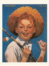 Postcard Norman Rockwell A Scout is Helpful modern postcard P033x