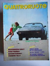 QUATTRORUOTE n°296 1980 Ford Taunus Datsun Cherry Triumph Tr 7 [82C]