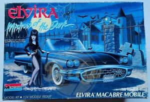 ELVIRA MACABRE MOBILE 1958 Ford T-Bird Model Kit Monogram Vintage 1980s NIOB