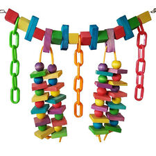 Neu Große Holzturm Leiter Vogel Wellensittich Schaukeln Seil Papagei Spielzeug