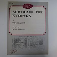 piano solo SERENADE FOR STRINGS tchaikovsky arr victor ambroise