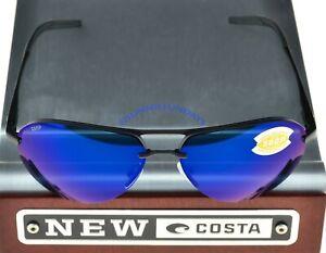 COSTA Del Mar HELO Matte Black BLUE MIRROR 580P Lenses HLO 11 OBMP