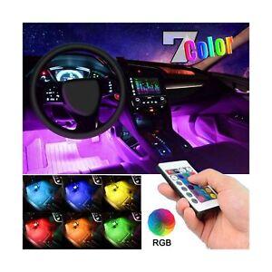 EJ's SUPER CAR Car LED Strip Light, 4pcs 36 LED Multi-Color Car Interior Ligh...
