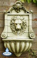 King Lion Head Wall Water Fountain Feature Garden Yard Outdoor Decoration