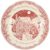 Noble Excellence Twas the Night Before Christmas Dinner Plate 4298381