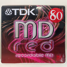 More details for sony blank tdk 80 mini disc with case new and sealed blank disc recordable md