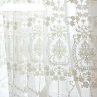 Embroidery Flower Screens European Style Voile Tulle Sheer Living Room Curtain