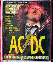 Rare HM magazine ITALIA superb AC/DC PS + QEENSRYCHE POISON LAW # 107 1990