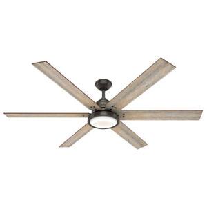 Hunter Fan Company Warrant 70-inch Ceiling Fan with LED light, Noble Bronze