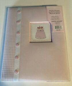 Baby Memory Book 'Thank heaven for little girls' C.R. Gibson Amy Dietrich NEW