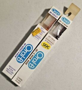 LOT OF 2 Vintage Oral-B Tooth Brushes NOS sealed -- 4531