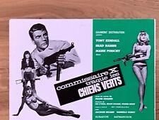 Dossier de presse»COMMISSAIRE X TRAQUE LES CHIENS VERTS»1965- HARRIS- KRAMER-