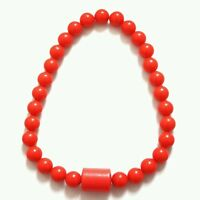 New Ladies Men Red coral bead necklace African jewelry Size-Large