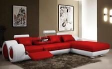 Canapé D'Angle Intérieur de la Maison en Cuir Rembourrage Ensemble Angle -
