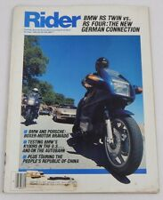 Oct '84 RIDER Magazine Motorcycle Motorcycling BMW RS TWIN RS Four Sport Touring