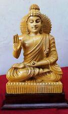 Hand Carved Buddha Cedar Wood Sculpture Statue Tibetan Temple Figurine Thai Rare