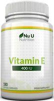 Vitamin E 400 IU 180 Softgels 6 Month Supply Vitamin E Capsules Natural Source