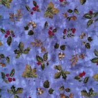 "Timeless Treasure Blue Leaf Toss 100% Cott Christmas Quilting Fabric 44"" Wide"