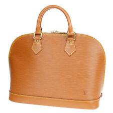 Authentic LOUIS VUITTON Alma Hand Bag Epi Leather Brown France M54148 82MA208