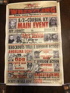 TNA Vintage Wrestling Poster Signed Door Prize. Dudley Boys,beer Money,Abyss.WWE