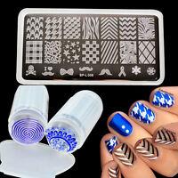 Born Pretty DIY Nail Stamping Plate Image Polish Stamp Plate Scraper Stamper Kit