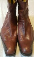 SEBASTIANO MIGLIORE MEN'S ITALIAN LEATHER BOOTS SIZE EU 43/ UK 9 BROWN