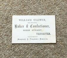 More details for vintage advert card william clewer baker confectioner tadcaster huntley palmer
