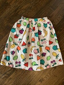 Hanna Andersson girls 120 (size 6-7)  white skirt with fruit NWT