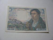 billet 5 francs Berger 1947 .