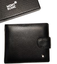 Mb Leather wallet  black bifold business classic for men mercedes benz
