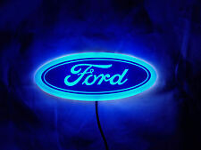 NEW Backlit Chrome &  BLUE LED Oval Badge Emblem Lamp For FORD™ Free Ship