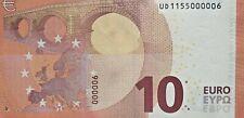 BILLET TRES RARE NEUF 10 EURO 2014PALINDROME  UD1155000006  / 000006 /  U006E4