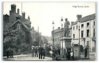 Postcard Stoke High Street Staffordshire posted 1918