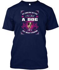 English Setter Dog My Best Friend Hanes Tagless Tee T-Shirt