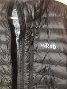 NEW Mens RAB Black Shark Microlight Jacket Down Puffer Goose Coat Brewery XL
