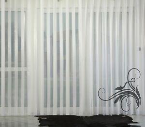 Hochwertige Gardine Fertiggardinen Streifen Voile Store Vorhang nach Maß CLASSIC