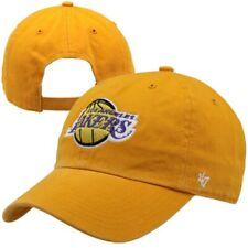 47 CLEAN UP ADJUSTABLE HAT.  NBA.  LOS ANGELES LAKERS.  GOLD.