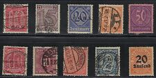 Germany - Older Official Stamps Issued 1920-1923.Q81n.# 8313
