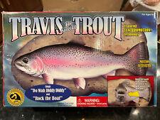 1999 Travis The Singing Trout Gemmy Animated Fish Wall Mount Nib!