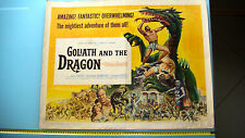 """1960 """"GOLIATH AND THE DRAGON"""" Stars Forest, Ruffo & Crawford Large Movie Poster."""