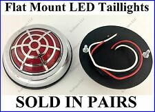 Flat Mount Red LED Taillights Roll Pan Bumper Custom Ford Pickup Truck P50S