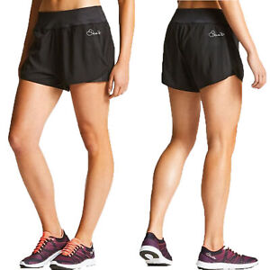 2 x Dare2b Enclose Women's Lightweight Quick Drying Running Gym Shorts Black