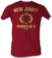 New Jersey Generals USFL Logo Men's Tee Shirt Cherry Heather Sizes S-2XL