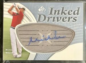 MIKE WEIR auto INKED DRIVERS 2012 UD SP GAME USED GOLF Autograph PGA 🇨🇦 Canada