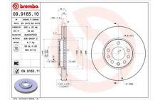 2x BREMBO Discos de freno delanteros Para OPEL VECTRA SAAB 9-3 09.9165.11