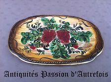 B20140524 - Plat de 32,5 X 22 cm en céramique H.Bequet - Quaregnon Belgique