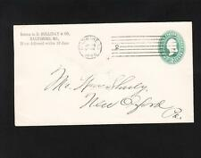 Baltimore 1895 Machine Cancel #2 D. Holliday & Co 2c PSE Cover z72