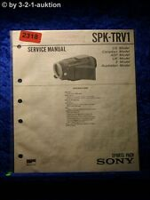 Sony Service Manual SPK TRV1 (#2318)