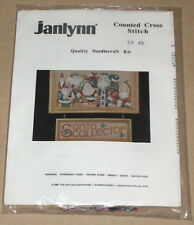 "1989 Janlynn ""Santa Collector"" Christmas Cross Stitch Kit NIP"